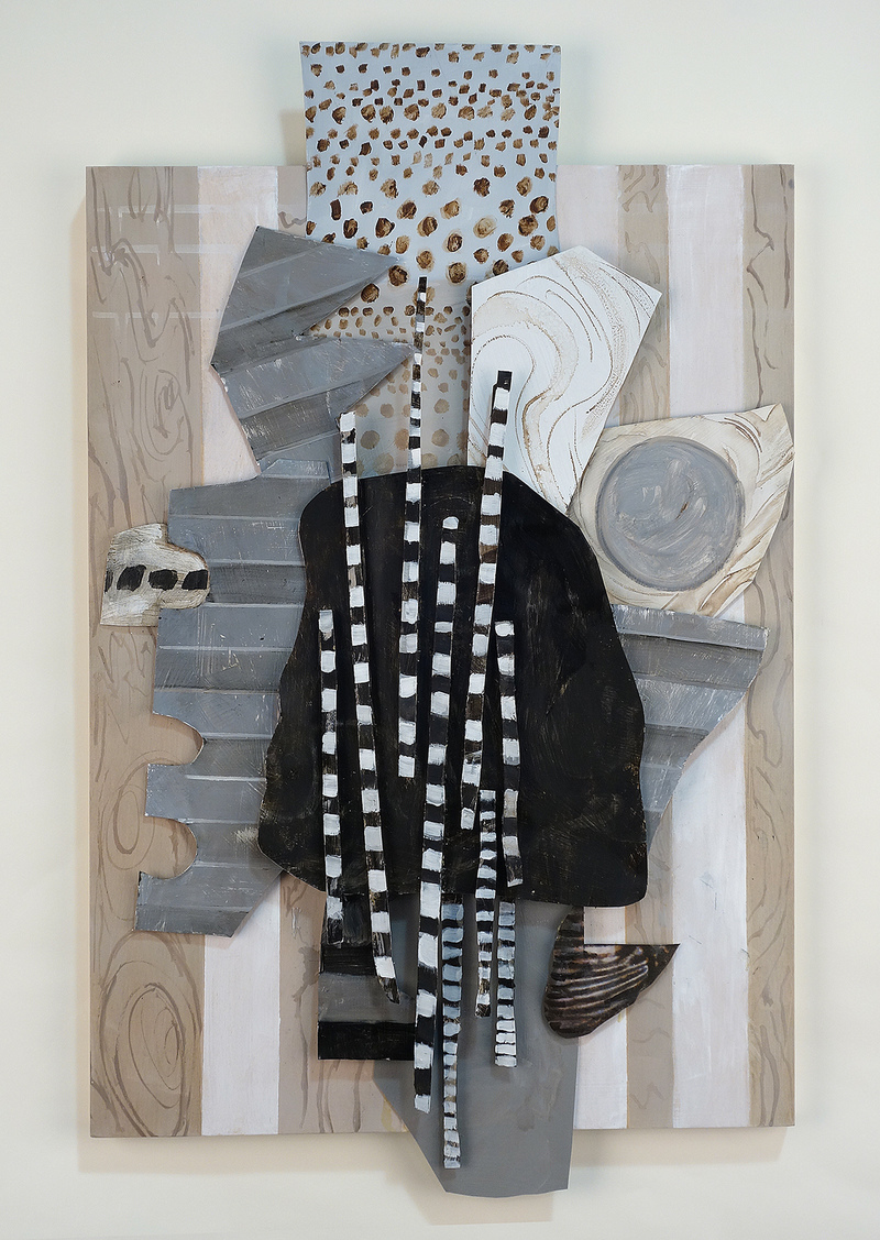 Yura Adams  Reliefs oil and acrylic on aluminum and wood