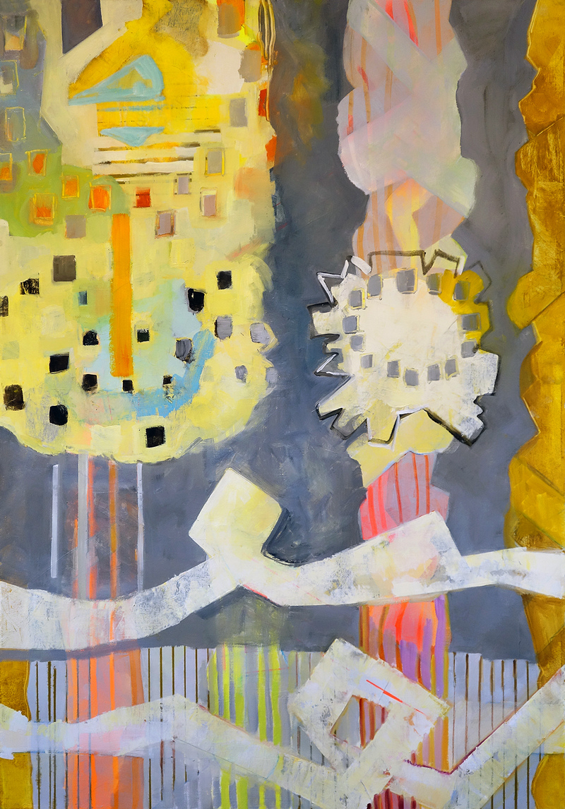 Yura Adams RECENT PAINTINGS acrylic and oil on paper, 60 x 40 inches