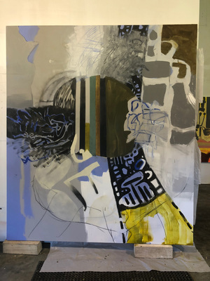 Yura Adams Unfinished painting in progress