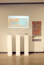 Zac Willis One Week's Pay lotto scratcher tickets, metallic shavings, $279.00, digital prints, video, sound