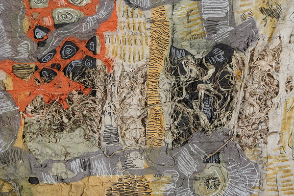 Zia Gipson Felted Paper Drawn/Painted Felted paper and drawing in mixed media