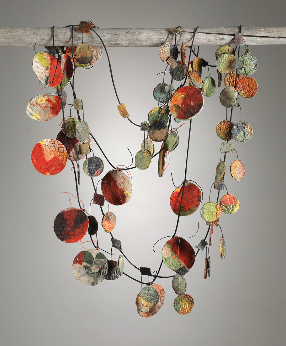 Felted Paper Necklaces Circular Small & Circular Large
