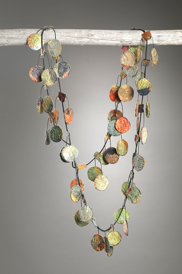 Felted Paper Necklaces Circular