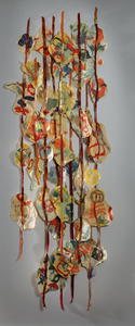 "Zia Gipson Installations Joomchi, ""felted paper"" and hand-dyed, handmade felt"