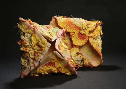 Zia Gipson Vessels Felted paper and ramie