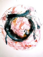 Abby DuBow Circles: Frank's Folly Monotype