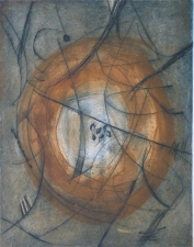 Abby DuBow Circles: Frank's Folly Monoprint