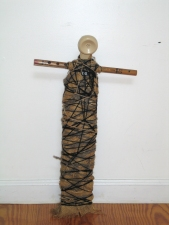 Abby DuBow Sculptures Mixed Media; Yarn, telephone, bamboo