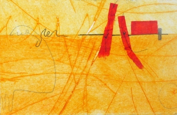Abby DuBow Small Prints: Spice Series Monoprint