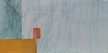 Abby DuBow The Blues Monoprint