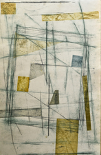 Abby DuBow Fragments and Discards Monoprint, etching
