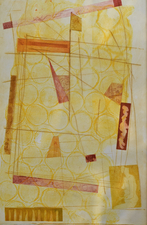 Abby DuBow Fragments and Discards Monotype. etching