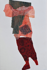 Abby DuBow Hand-printed collages Hand-printed torn paper collage