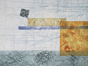 Abby DuBow Recent Work 2017 Collograph Monoprint