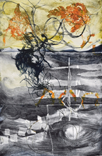 Abby DuBow Ballycastle, Ireland Monotype, Mixed Media