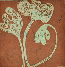 Abby DuBow Flowers Etching