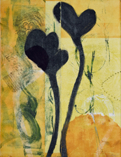 Abby DuBow Flowers Monotype