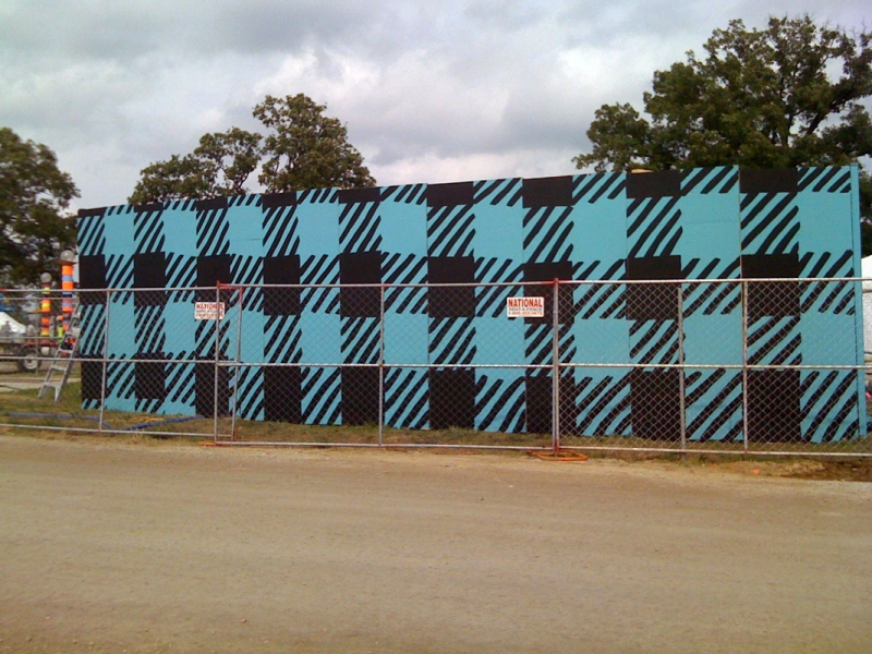 Murals, fabrics, repeating designs Plaid Aqua