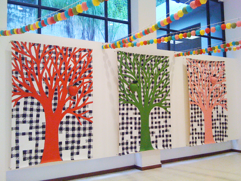 Murals, fabrics, repeating designs Apple Trees