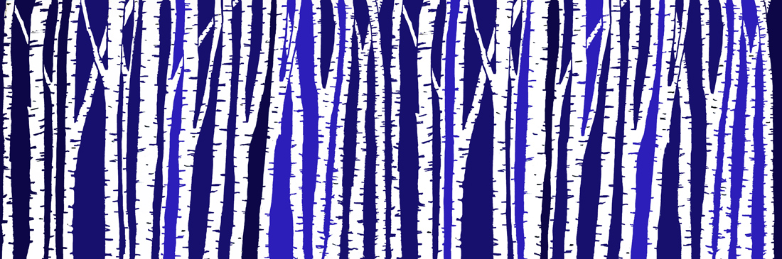 Murals, fabrics, repeating designs Birches