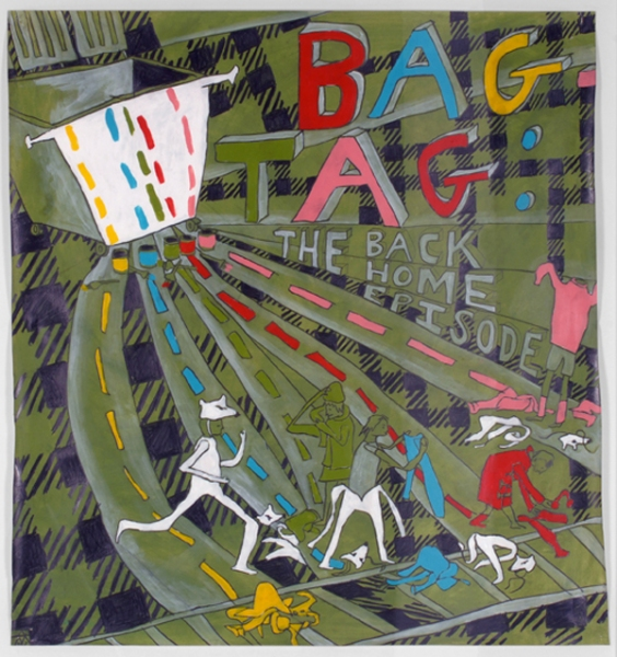 BAG TAG Episode Back Home, Documentary Drawing, GREEN