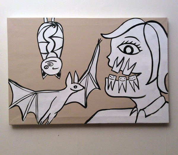 Jabby Walleyes - Paintings in collaboration with James Bellizia Bat-Teeth