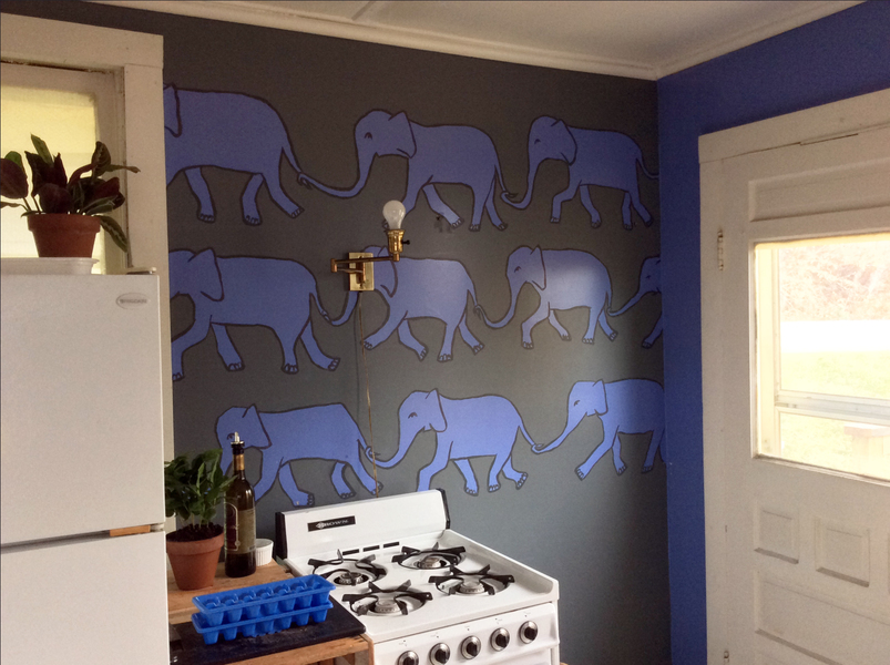 Murals Elephant Kitchen