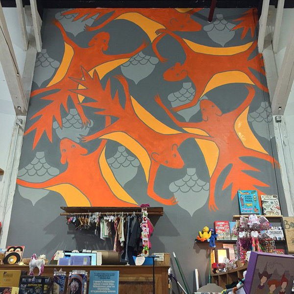Murals, fabrics, repeating designs Flying Squirrel