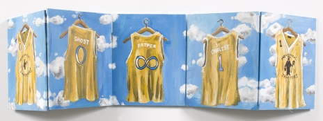 Adam Taye Jersey Paintings acrylic on panels