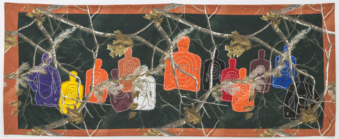 Adam Taye Invisible Targets Embroidery on media canvas