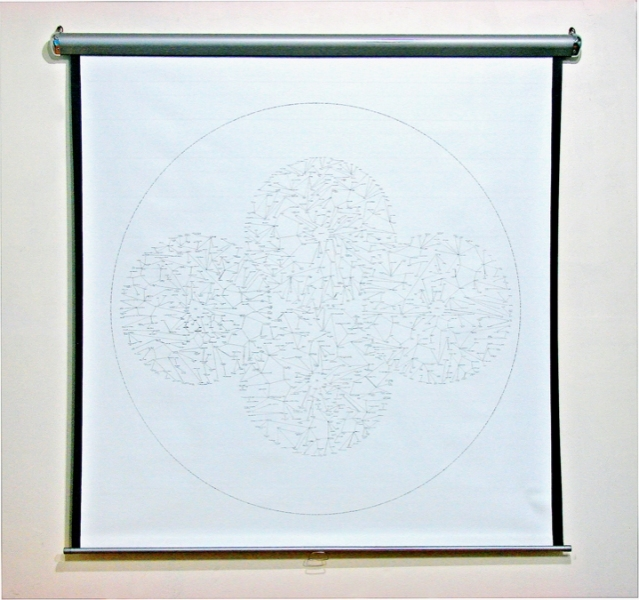Adam Welch Art - Selected Works Pile (old) marker on pullout projector screen