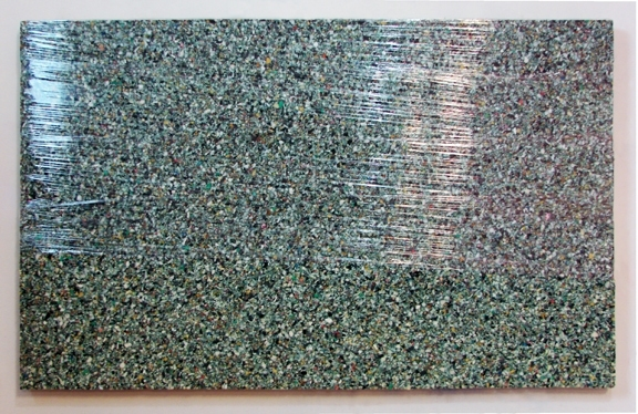 Adam Welch Art - Selected Works Pile (old) Foam Padding, Plastic Wrap on Panel