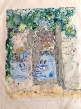 "Adrienne Momi ""Graffiti"" gallery  Watercolor monotype"