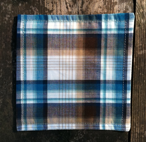COASTERS  Teal Plaid Coasters