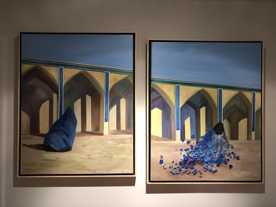 Afsaneh Djabbari-Aslani In My Head Acrylic and glass