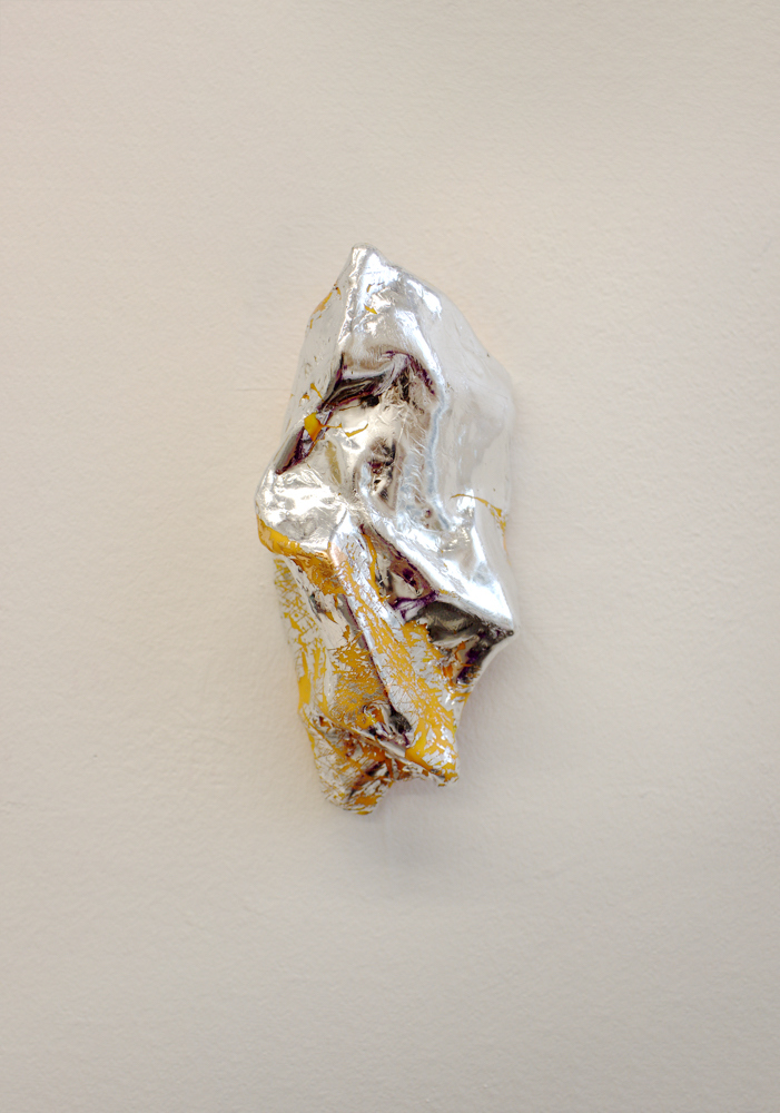 Sculpture Silver leaf, beeswax, oil on canvas