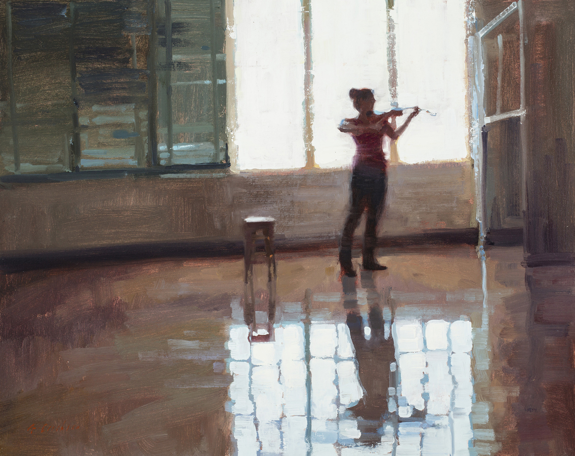 Portraits/Figures Composition with Violinist in Room 38