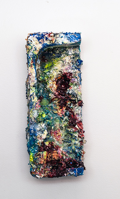 aimee hertog Installation and Sculpture Discarded Styrofoam, paper shredding, glue, alcohol ink, paint, glitter, resin