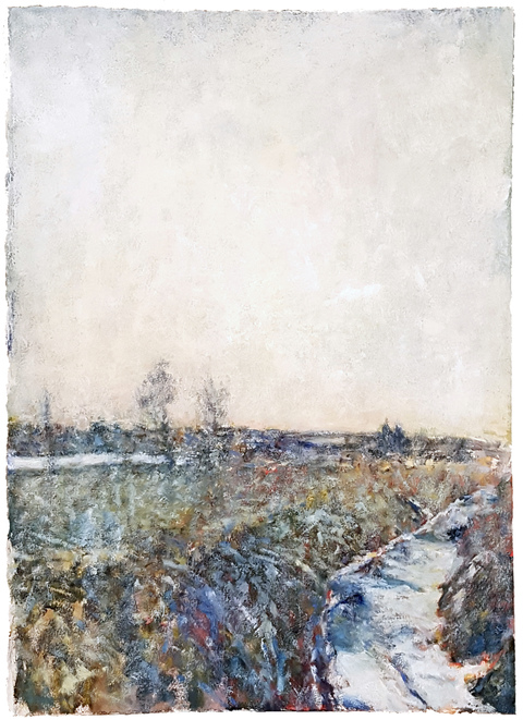 Alan Hobscheid Borrow Pit oil on paper