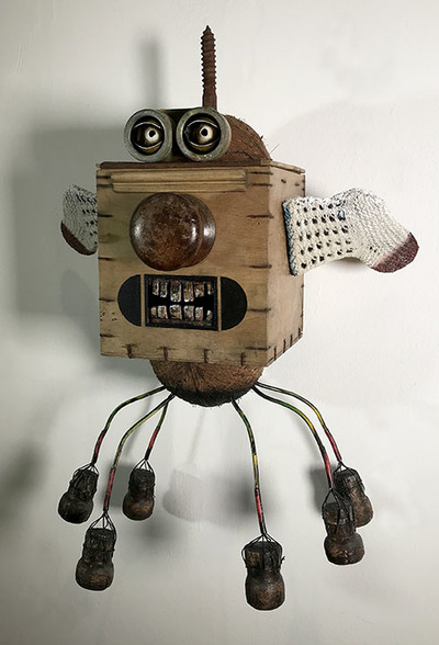 ALASTAIR DICKSON THE UNCOMMON BLOCKHEAD Mixed media