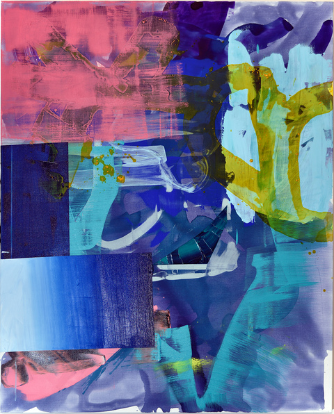 Alexander Kroll Paintings Flashe and Acrylic on Linen