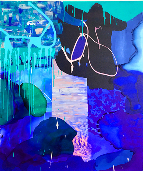 Alexander Kroll Paintings Oil, Acrylic and Ink on Canvas