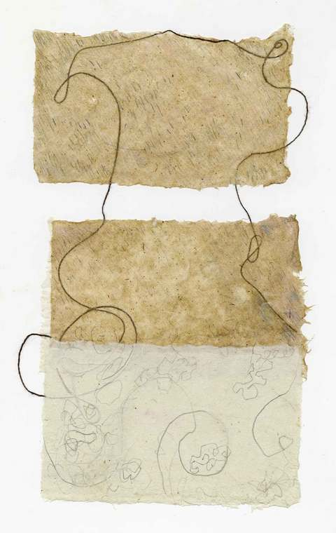 Alice Sims-Gunzenhauser Additional Works on Paper handmade paper, string, graphite, colored pencil