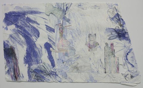 Alice Sims-Gunzenhauser Recent Work collage of monoprints and drawings