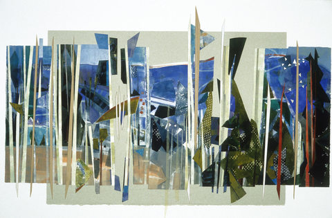 A L I C E   W E B B Collages Cut monotypes on BFK Rives with balsa wood