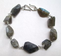 ALI HERRMANN Stone Necklaces and Bracelets blue and grey labradorite/sterling