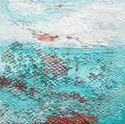 ALI HERRMANN Abstracts encaustic and oil paint