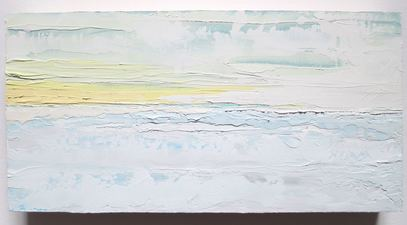 ALI HERRMANN Out to Sea Series oil on wood panel