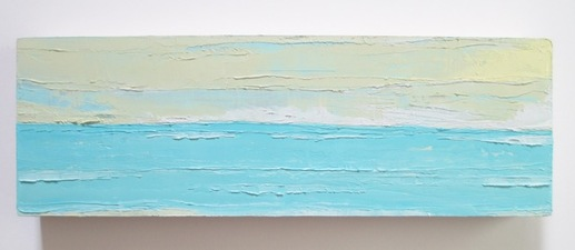 ALI HERRMANN Out to Sea Series impasto oil on wood panel
