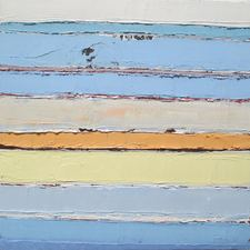 ALI HERRMANN Landscape Horizons impasto oil on wood panel
